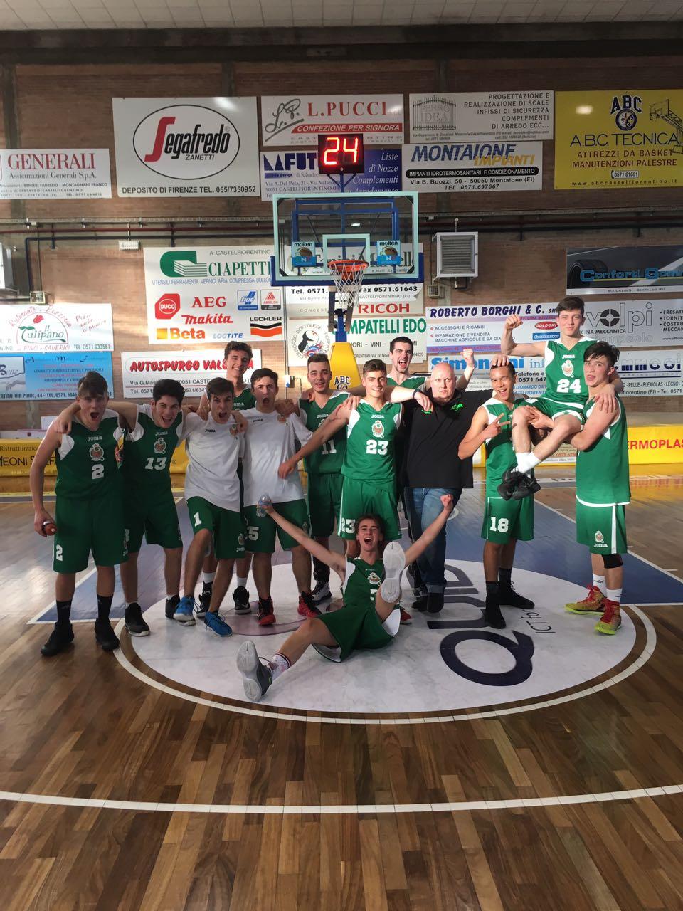 Under 18 qualificati alla Final Four di Coppa Toscana
