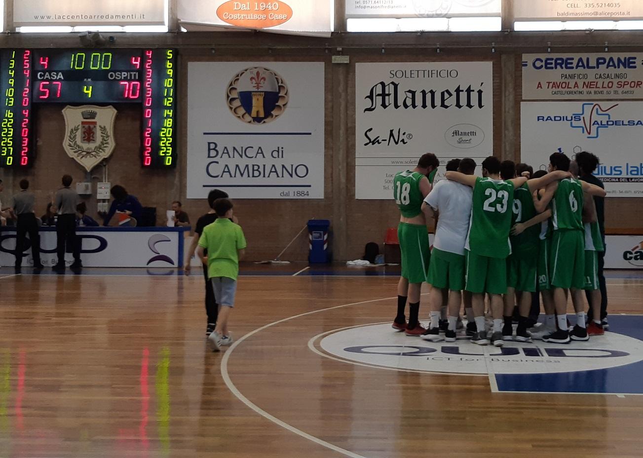 Playoff gara 1 Abc Castelfiorentino-Lorex Sport Valdisieve 57-70