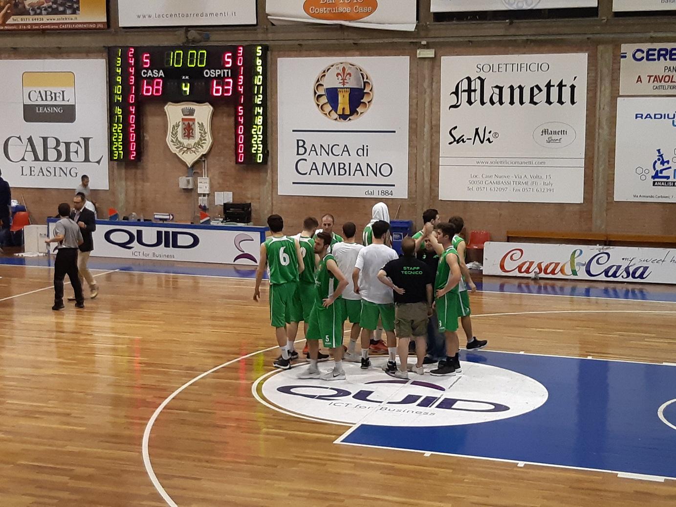 Playoff gara 3 Abc Castelfiorentino-Lorex Sport Valdisieve 68-63