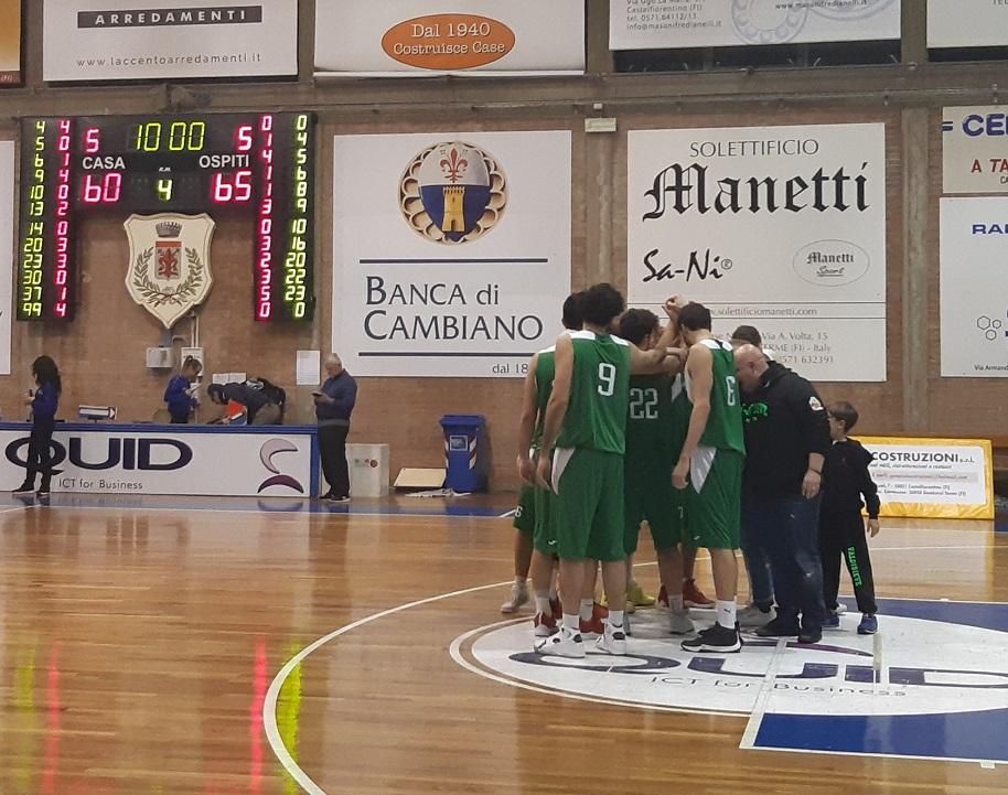 Final Four Coppa Toscana ABC Castelfiorentino-ASD Valdisieve 60-65